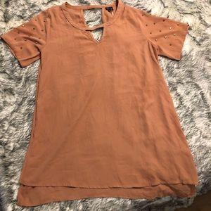 Studded Nylon blouse